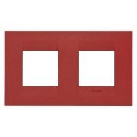 Cover Plate Chorus GEO INTERNATIONAL, Painted Technopolymer Pastel Colours, Ruby, 2+2 modules, Horizontal
