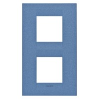 Cover Plate Chorus GEO INTERNATIONAL, Painted Technopolymer Pastel Colours, Sea Blue, 2+2 modules, Vertical