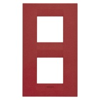Cover Plate Chorus GEO INTERNATIONAL, Painted Technopolymer Pastel Colours, Ruby, 2+2 modules, Vertical