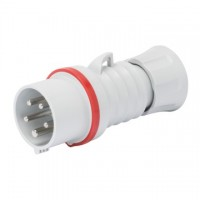 STRAIGHT PLUG HP - WITH FASE INVERTER - IP44/IP54 - 3P+N+E 16A 380-415V - RED - 6H - SREW WIRING
