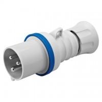 STRAIGHT PLUG HP - IP44/IP54 - 2P+E 32A 200-250V 50/60HZ - BLUE - 6H - SCREW WIRING