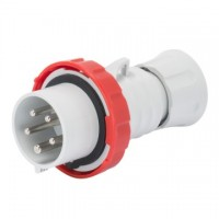 STRAIGHT PLUG HP - WITH FASE INVERTER - IP66/IP67/IP68/IP69 - 3P+N+E 16A 380-415V - RED - 6H - SREW WIRING