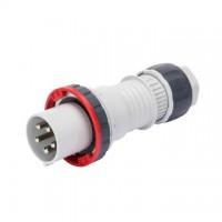 STRAIGHT PLUG HP - IP66/IP67/IP68/IP69 - 3P+N+E 125A 346-415V 50/60HZ - RED - 6H - MANTLE TERMINAL