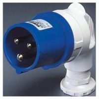90 PLUG - IP44 - 2P+E 32A 200-250V 50/60HZ - BLUE - 6H - SCREW WIRING