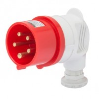 90 PLUG - IP44 - 3P+N+E 32A 380-415V 50/60HZ - RED - 6H - SCREW WIRING