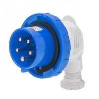 90 PLUG - IP67 - 2P+E 32A 200-250V 50/60HZ - BLUE - 6H - SCREW WIRING