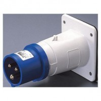 STRAIGHT FLUSH MOUNTING INLET - IP44 - 2P+E 16A 200-250V 50/60HZ - BLUE - 6H - SCREW WIRING