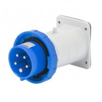 STRAIGHT FLUSH MOUNTING INLET - IP67 - 2P+E 32A 200-250V 50/60HZ - BLUE - 6H - SCREW WIRING