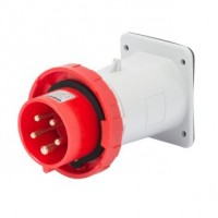 STRAIGHT FLUSH MOUNTING INLET - IP67 - 3P+N+E 32A 380-415V 50/60HZ - RED - 6H - SCREW WIRING