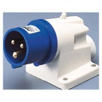 90 ANGLED SURFACE MOUNTING INLET - IP44 - 2P+E 16A 200-250V 50/60HZ - BLUE - 6H - SCREW WIRING