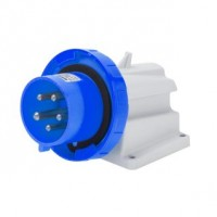 90 ANGLED SURFACE MOUNTING INLET - IP67 - 2P+E 16A 200-250V 50/60HZ - BLUE - 6H - SCREW WIRING