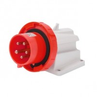 90 ANGLED SURFACE MOUNTING INLET - IP67 - 3P+N+E 16A 380-415V 50/60HZ - RED - 6H - SCREW WIRING