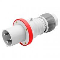 STRAIGHT PLUG HP - IP44/IP54 - 3P+N+E - 63A - 380-415V 50/60HZ - RED - 6H - MANTLE TERMINAL