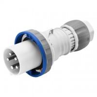 STRAIGHT PLUG HP - IP66/IP67/IP68/IP69 - 2P+E 63A 200-250V 50/60HZ - BLUE - 6H - MANTLE TERMINAL