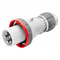 STRAIGHT CONNECTOR HP - IP44/IP54 - 3P+N+E 63A 346-415V 50/60HZ - RED - 6H - MANTLE TERMINAL