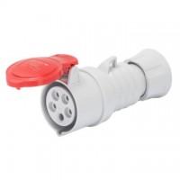 STRAIGHT CONNECTOR HP - IP44/IP54 - 3P+N+E 32A 380-415V 50/60HZ - RED - 6H - SCREW WIRING