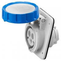 10 ANGLED FLUSH-MOUNTING SOCKET-OUTLET HP - IP66/IP67 - 2P+E 16A 200-250V 50/60HZ - BLUE - 6H - SCREW WIRING