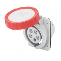 10 ANGLED FLUSH-MOUNTING SOCKET-OUTLET HP - IP66/IP67 - 3P+N+E 16A 380-415V 50/60HZ - RED - 6H - SCREW WIRING