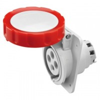 10 ANGLED FLUSH-MOUNTING SOCKET-OUTLET HP - IP66/IP67 - 3P+E 32A 380-415V 50/60HZ - RED - 6H - SCREW WIRING