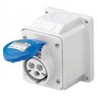 10 ANGLED SURFACE-MOUNTING SOCKET-OUTLET - IP44 - 2P+E 16A 200-250V 50/60HZ - BLUE - 6H - SCREW WIRING