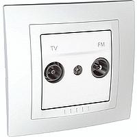Сглобена TV/FM розетка 47-860 MHz 10 A 250 V, Бял