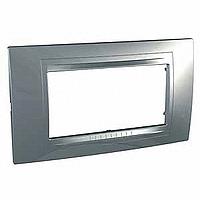 Четиримодулна рамка италиански стандарт Unica Allegro, Сребро