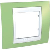 Единична рамка Unica Plus, Ябълково зелен/Бял