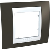 Единична рамка Unica Plus, Какао/Бял