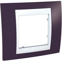 Единична рамка Unica Plus, Гранит/Бял