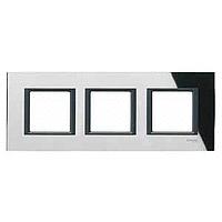 Тройна рамка Unica Class, Черно огледало