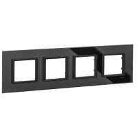 Четворна рамка Unica Class, Черно огледало