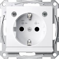 Контактен излаз Шуко със светлинен излаз  и LED осветителен модул, Активно бяло