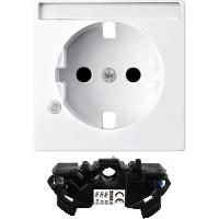 Капак с поле за етикет и модул за защита от пренапрежение за контактен излаз Шуко, Активно бяло