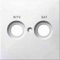 Капак обозначен с R/TV+SAT за розетка за антена, Полярно Бял