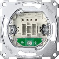 Механизъм за еднополюсен ключ с глим лампа