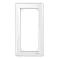 Рамка M-Creative Glass, двумодулна, без разделител, Прозрачна