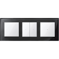Рамка M-Elegance Glass, тримодулна, Оникс