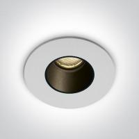 10102H/W/C WHITE LED 2W CW 700mA IP65 DARK LIGHT
