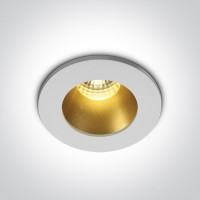 10103DL/W/BS/W WHITE/BRASS  LED WW 1W/350mA 3W/700mA DARK LIGHT