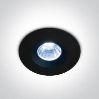 10103P/B/BL BLACK COB LED BLUE 3W 700mA IP65