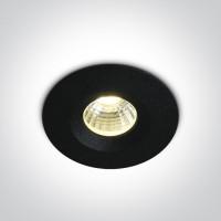 10103P/B/W BLACK COB LED WW 3W 700mA IP65