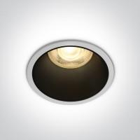10105AD/W WHITE GU10 50W BLACK REFLECTOR DARK LIGHT