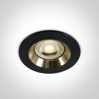 10105ALG/B/GL BLACK GU10 50W GOLD REFLECTOR