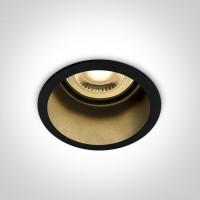 10105D8/B/B BLACK GU10 50W DARK LIGHT