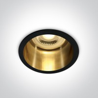 10105D8/B/GL BLACK GU10 50W DARK LIGHT