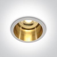 10105D8/W/GL WHITE GU10 50W DARK LIGHT