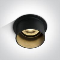 10105D9/B/B BLACK GU10 50W DARK LIGHT