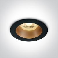 10105M/B/BS BLACK GU10 10W BRASS REFLECTOR DARK LIGHT