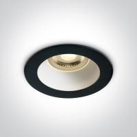 10105M/B/W BLACK GU10 10W WHITE REFLECTOR DARK LIGHT