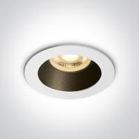 10105M/W/B WHITE GU10 10W MATT BLACK REFLECTOR DARK LIGHT